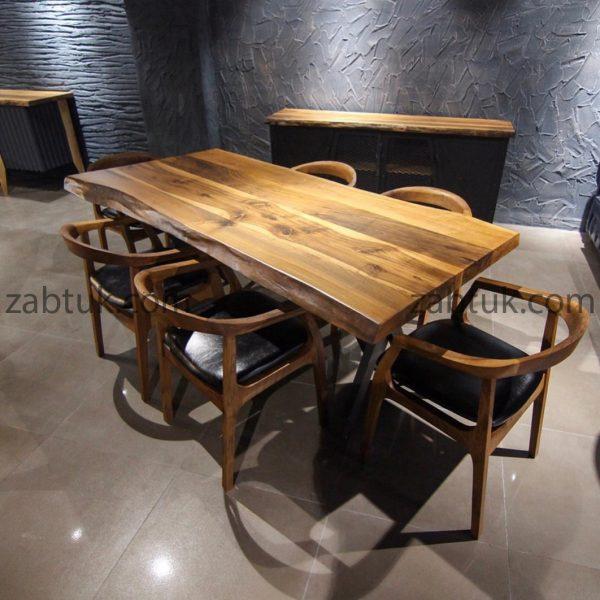 میز ناهارخوری چوبی زبتوک