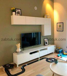 میز تلویزیون با رنگ زیبای سفید