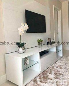 میز تلویزیون سفید ساده و شیک