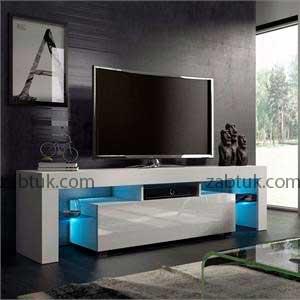 مدل میز تی وی سفید با قابلیت نصب چراغ