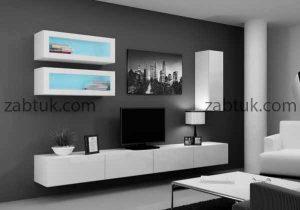 مدل میز تلویزیون سفید در تی وی روم