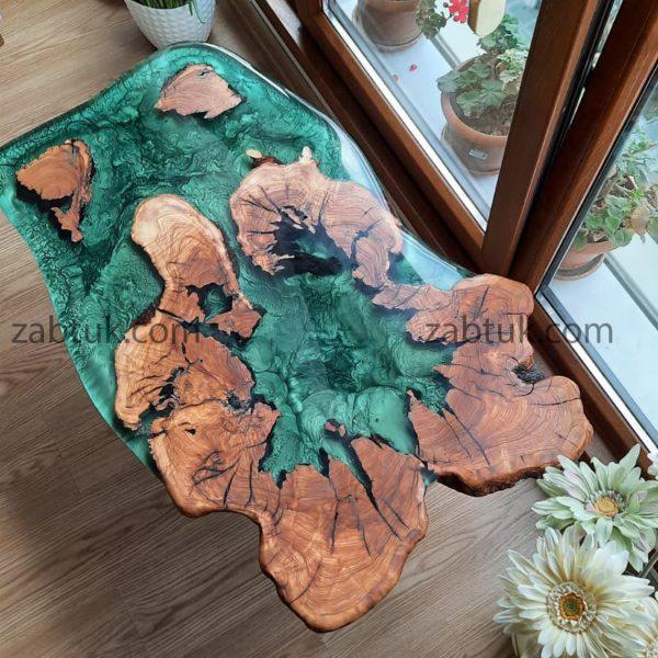میز جلو مبلی چوب و رزین